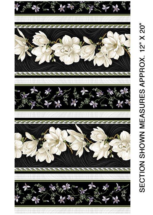 Benartex - Magnolia Blooms Stripe - Cream