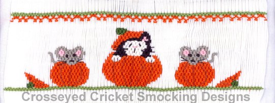 Crosseyed Cricket Cat in the Pumpkin