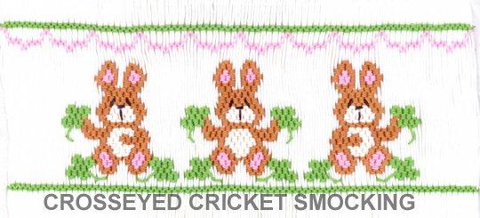 Crosseyed Cricket Bunnies in Clover
