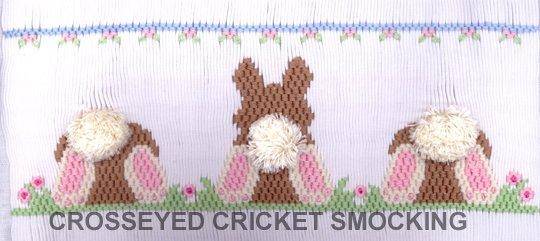 Crosseyed Cricket Bunny Butts