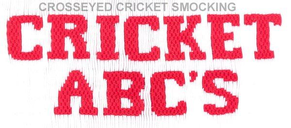 Crosseyed Cricket Cricket ABC's