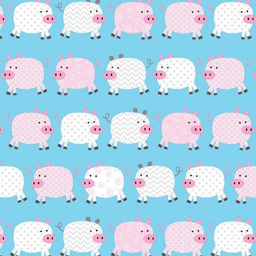 Benartex Kanvas - Happy Pigs