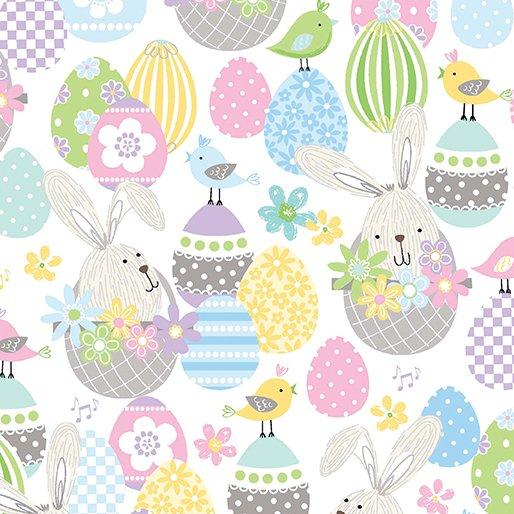 Benartex Kanvas - Bunny baskets