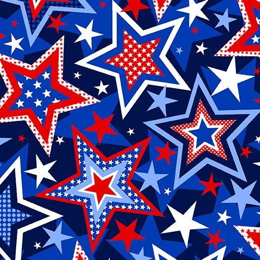 Benartex Kanvas - Patriotic Stars Navy