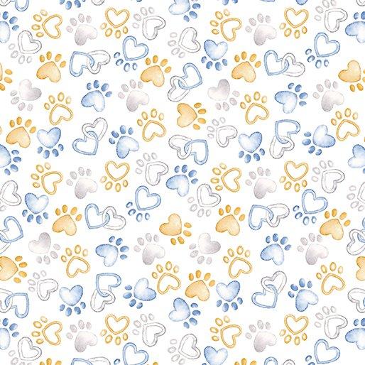 Benartex Kanvas - Pawfect Paws white