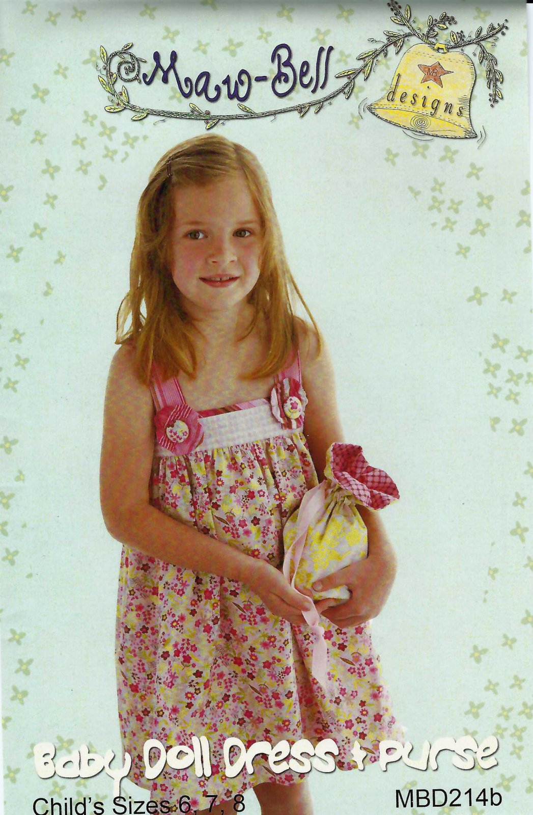 Maw-Bell  Baby Doll Dress and purse 6 - 8