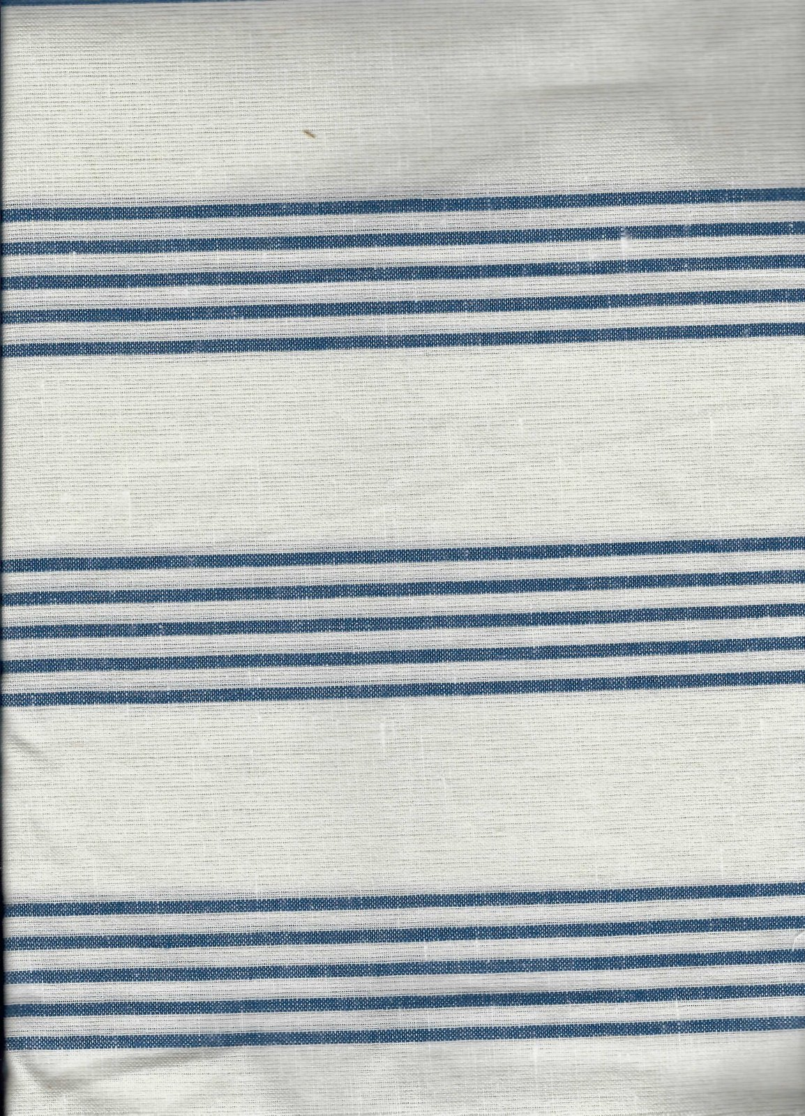 Toweling - 3 yards - Blue Stripe on Off White