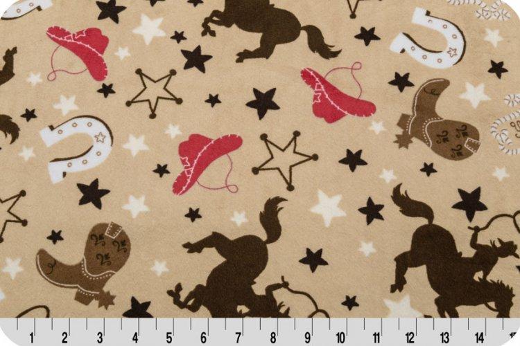 Shannon - Self Binding Minky Baby Blanket Kit - Buckaroo