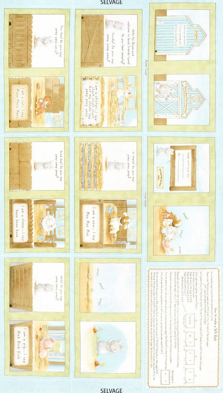 Timeless Treasures - Bunnies Book Panel