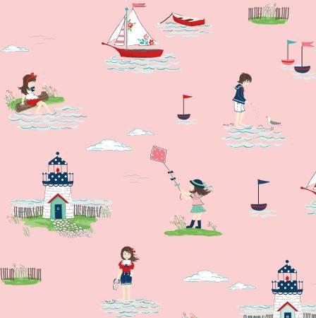 Riley Blake - Seaside Main Pink