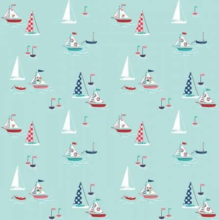 Riley Blake - Seaside Boats Aqua