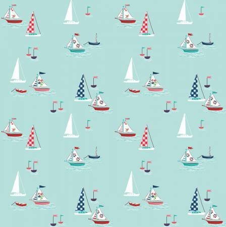 Riley Blake - Seaside Boats Aqua