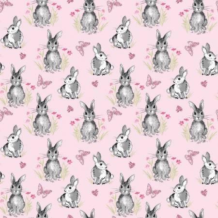 Riley Blake - Novelty Pretty Bunnies Pink