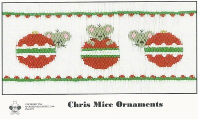 Crosseyed Cricket Chris Mice Ornaments