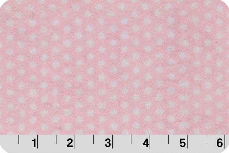 Self Binding Baby Blanket Minky Kit - Pink Dot