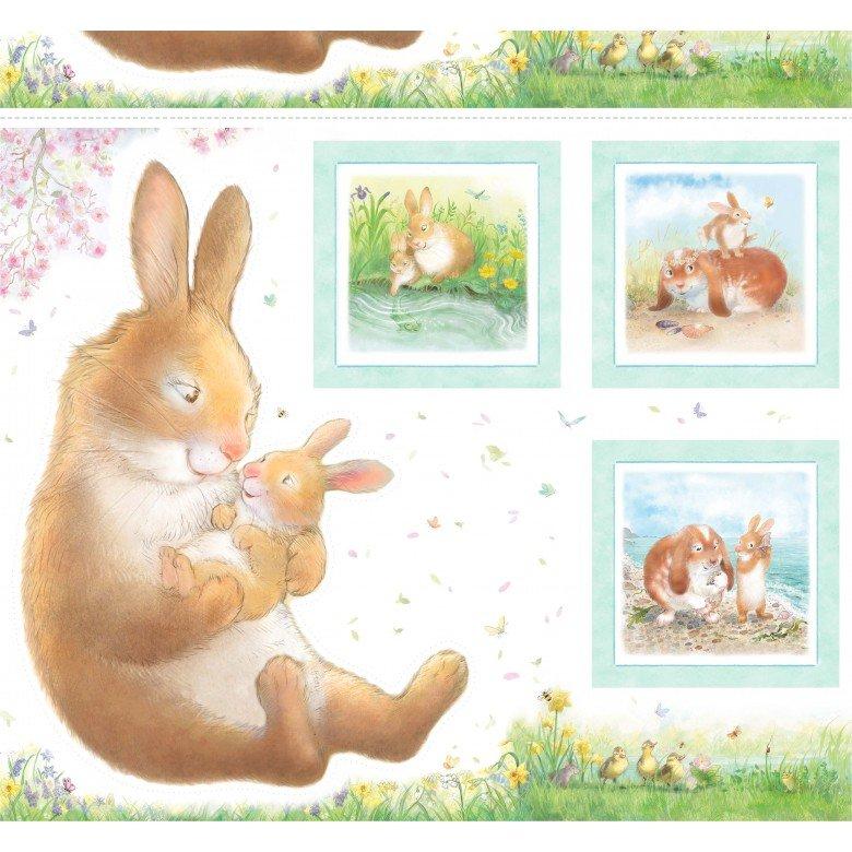 Michael Miller - Hug A Bunny - 36 Inch Panel