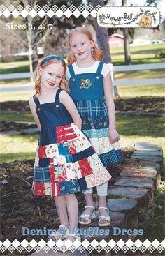 Maw-Bell - Denim & Ruffles Dress