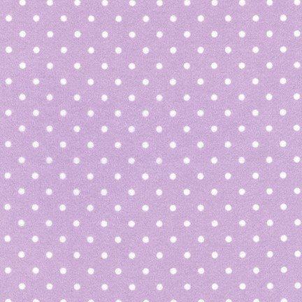 Robert Kaufman - Cozy Cotton Lavender Dot - 1 yard