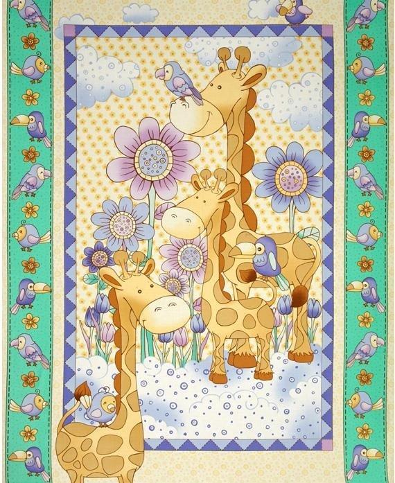 Fabri-Quilt - Giraffe Baby Panel
