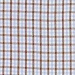 Fabric Finders -  Tri Check - blue, brown and white