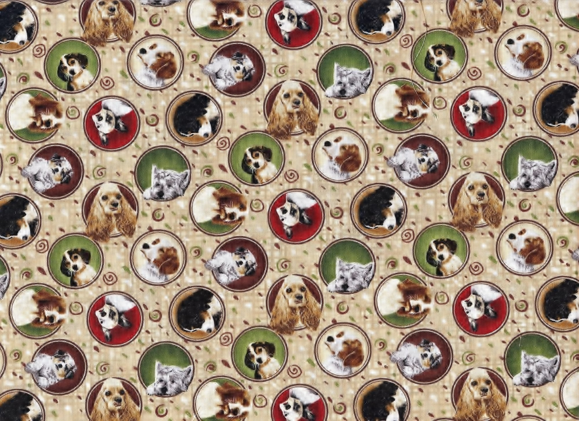 Fabri-Quilt - 4 Paws Stacked Dogs - copy