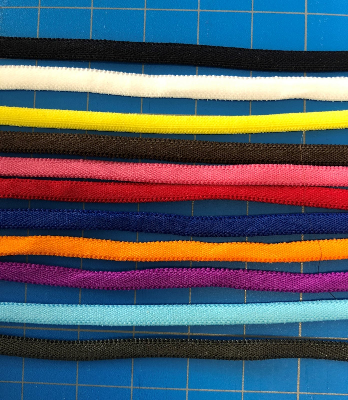 Banded Stretch Elastic - 1/6 in. wide - 5 yards - 12 COLORS