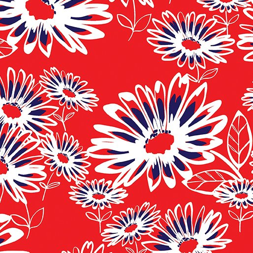 Benartex Kanvas - Love American Style Flowers