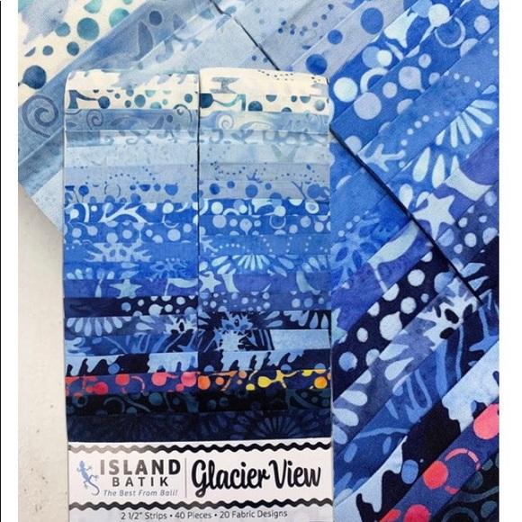 Island Batik - Glacier View Strip Pack