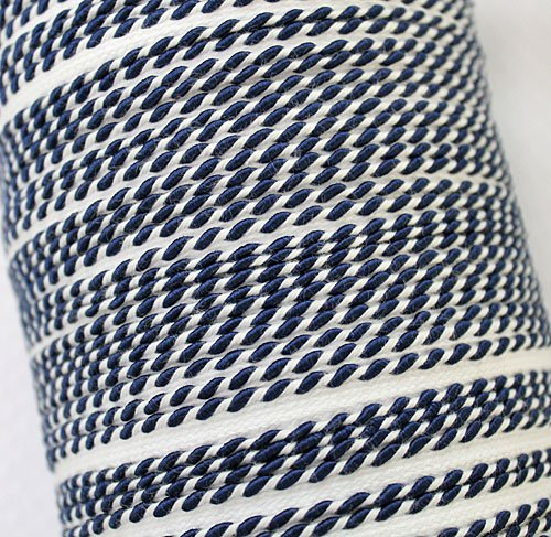 Whip stitch piping - Navy
