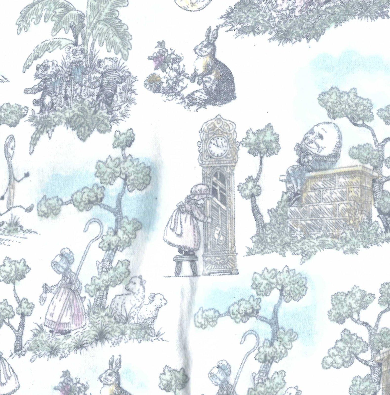 Flannel Hemstitched - Nursery Rhymes