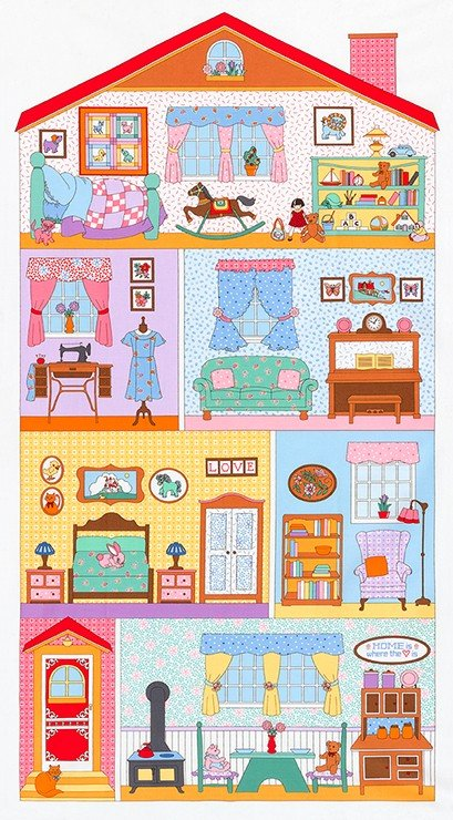 Robert Kaufman - Penny's Dollhouse 2 Panel