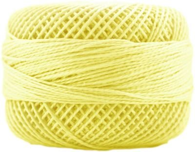 Finca Perle Cotton Size 5 10 gram Ball - 1220 Lemon