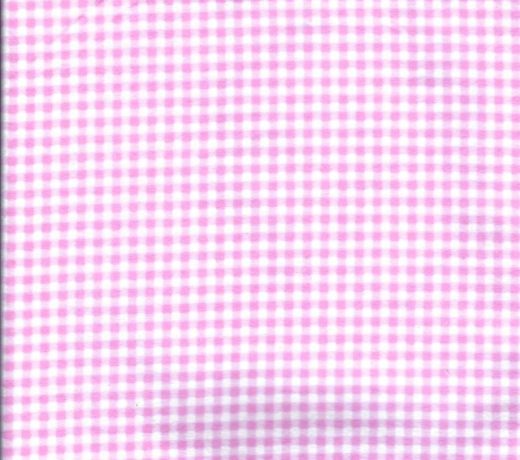 Flannel Hemstitched - Pink Gingham Check