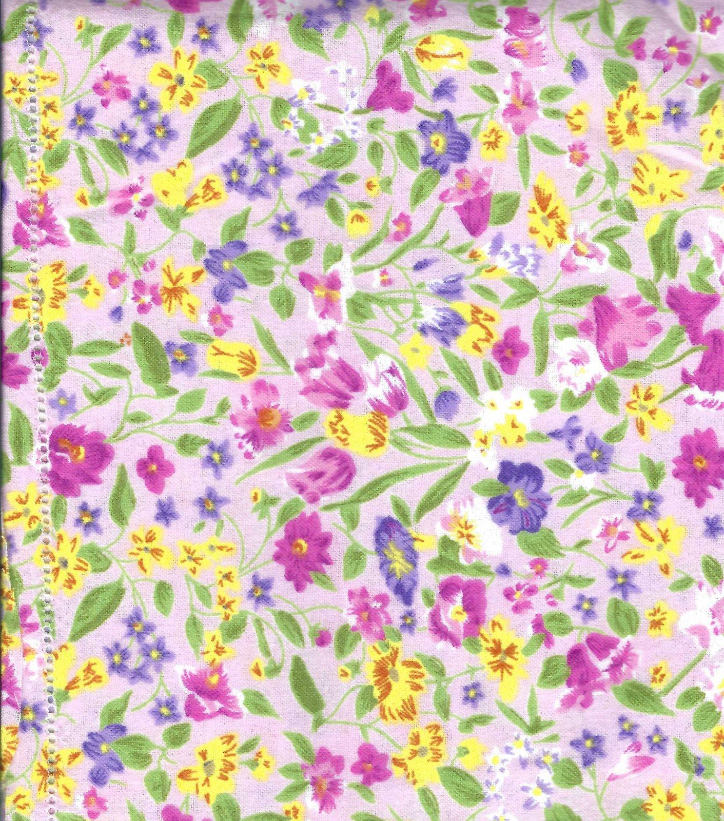 Flannel Hemstitched - Pink Floral