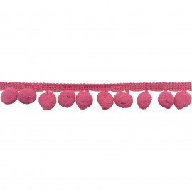 Pom Pom Fringe -Rose 25 mm