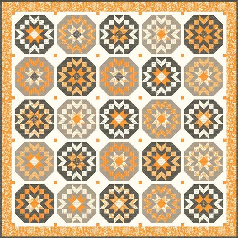 Moda - Pumpkins & Blossoms Quilt Kit