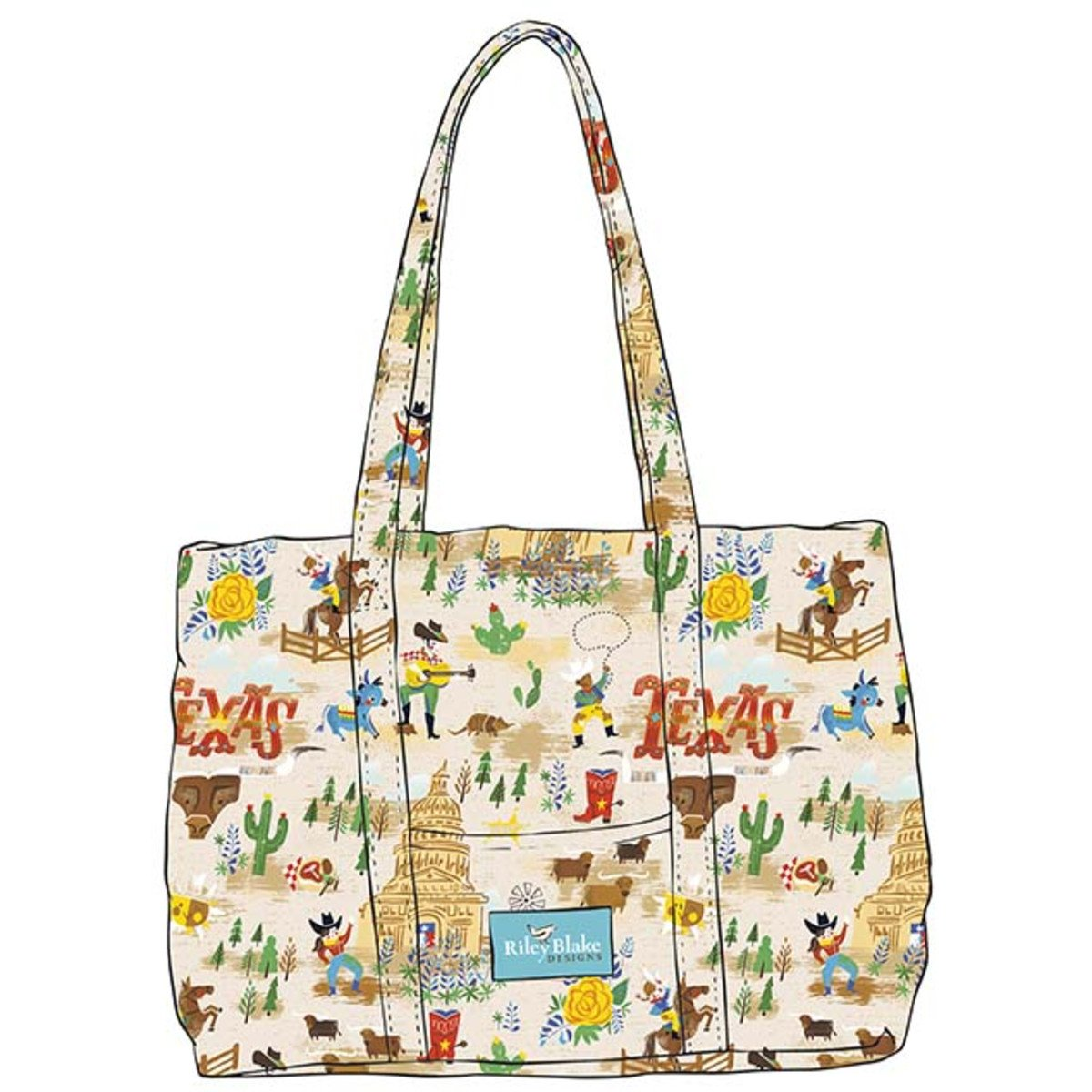 Riley Blake - Texas quilted bag