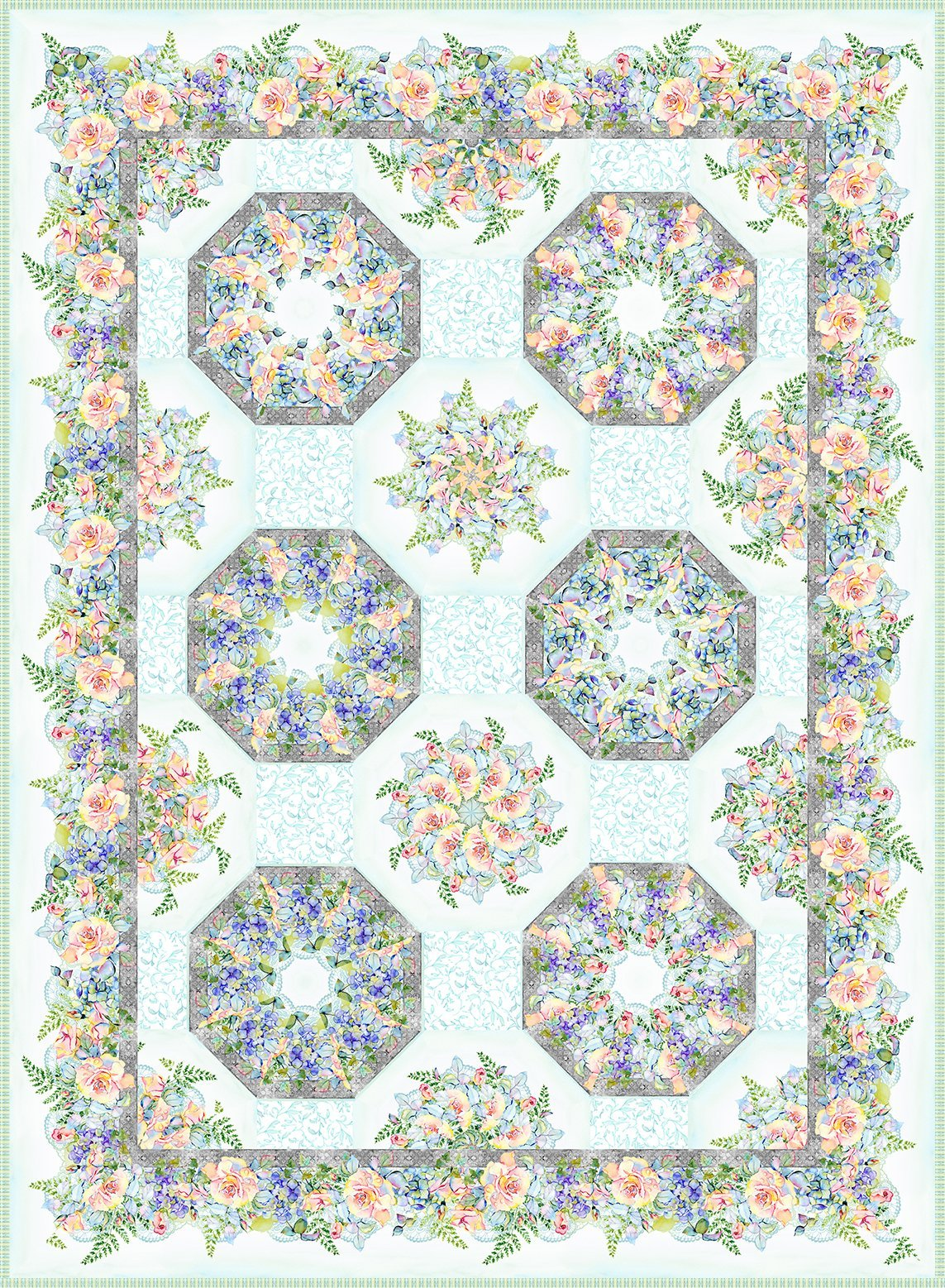 In the Beginning - Patricia Kaleidoscope Quilt Kit