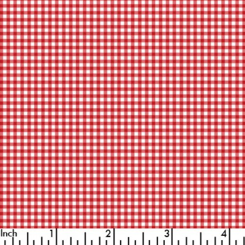 Spechler Vogel - 1/16 Pima Classic check - red