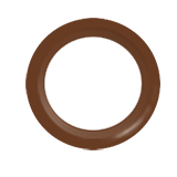 Snap Source Open Prong Ring Size 14 - Brown