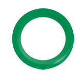 Snap Source Open Prong Ring Size 14  - green