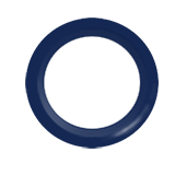 Snap Source Open Prong Ring Size 14 - Navy