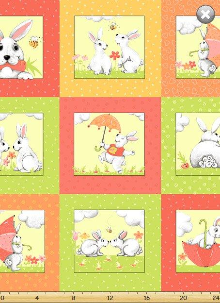Susybee - Bunny Patchwork Panel