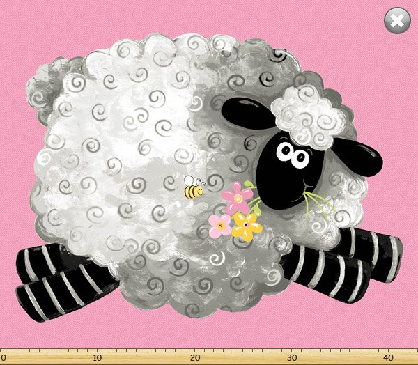 Susybee - Lewe's Balloons play mat pink