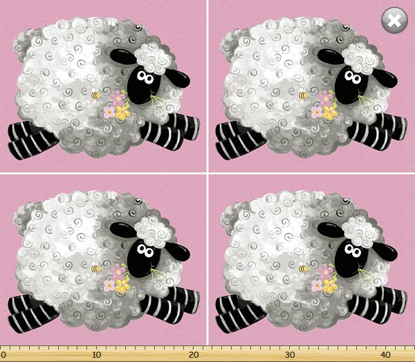 Susybee - Lal the Lamb Pillow panel