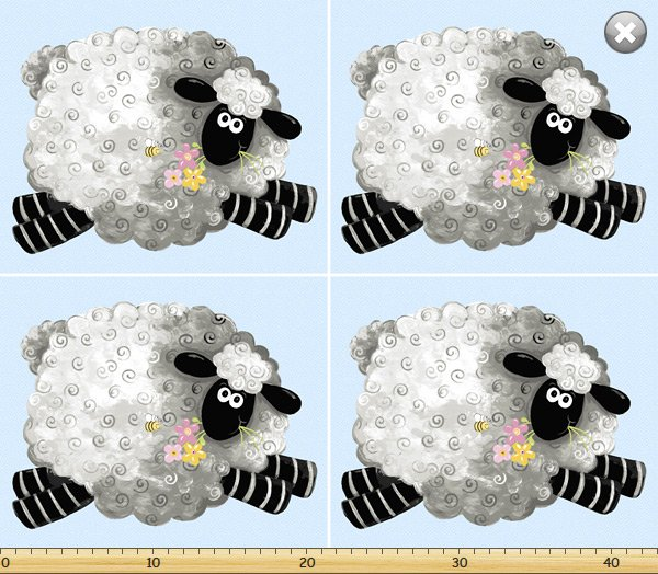 Suzybee - Lewe the Ewe Pillow panel