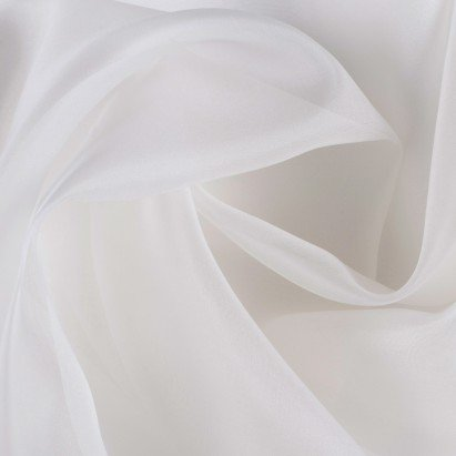 white silk organza