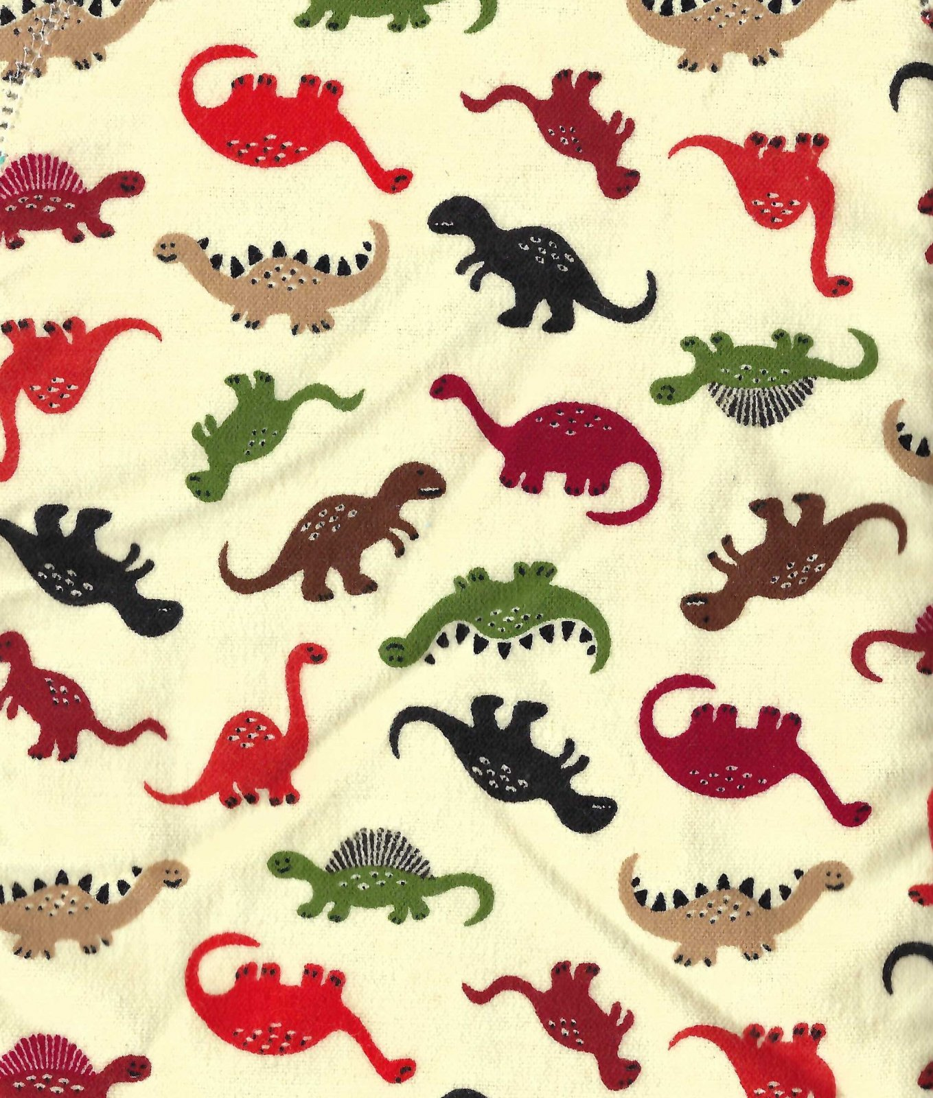 Flannel Hemstitched - Dinosaurs