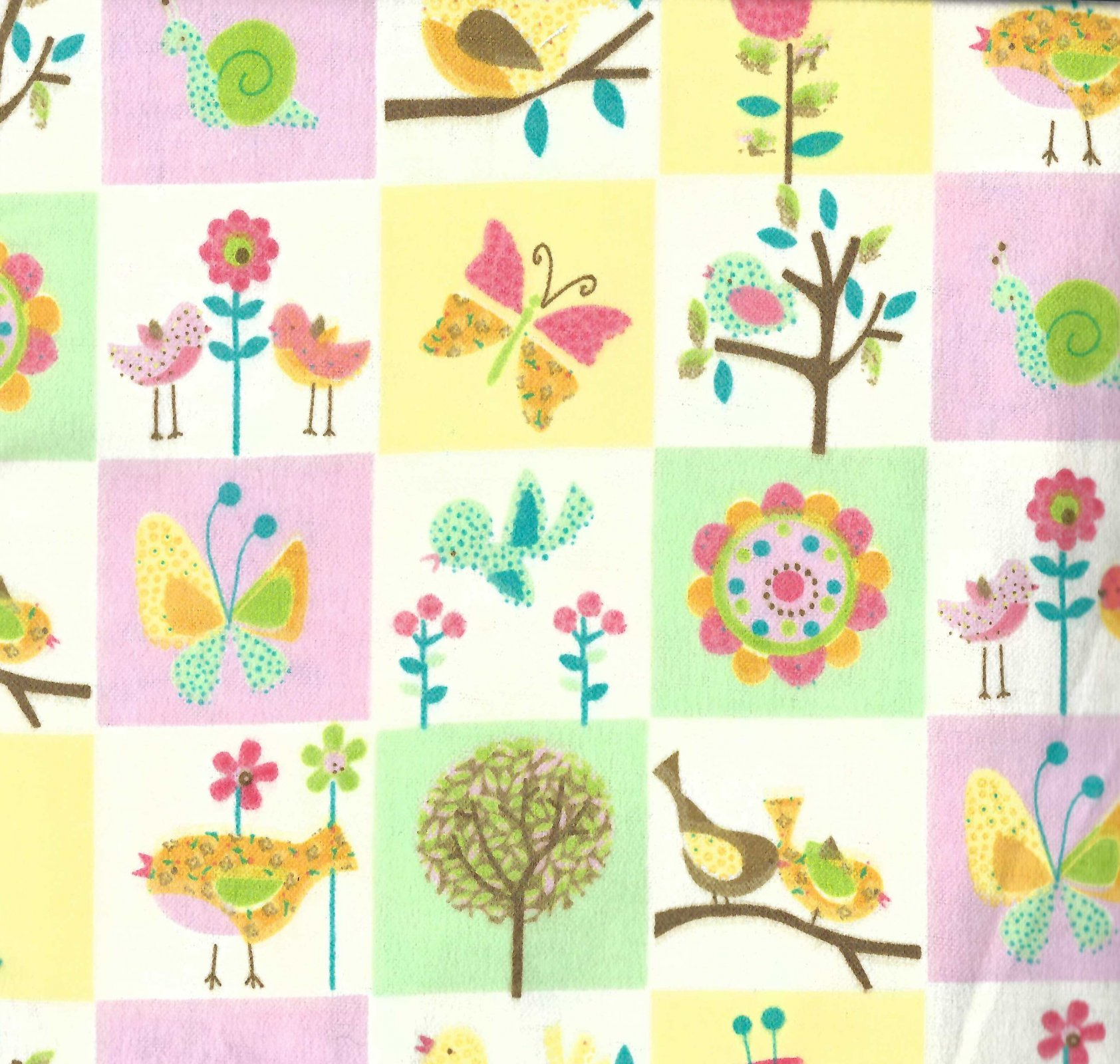 Flannel Hemstitched - Spring has Sprung