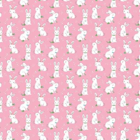 Riley Blake  - Winfred Rose Bunny Pink